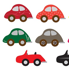 Sport car set1 01 vector