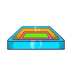 Square stadium icon cartoon style vector