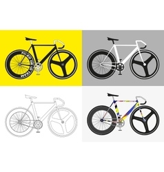 Flat fixed gear bicycle vector