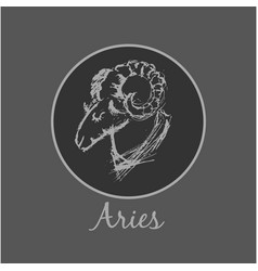 Aries astrological zodiac symbol horoscope sign vector