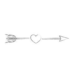 arrow with heart icon vector image vector image