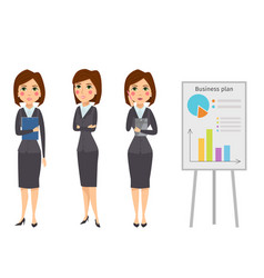 business woman character silhouette vector image