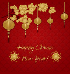 Chinese greeting card vector