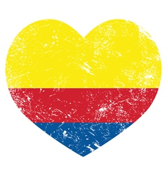 Columbia retro heart shaped flag vector image