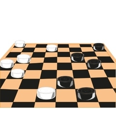 Desk game of checkers vector