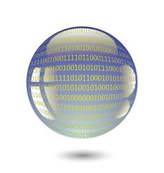Digital sphere vector