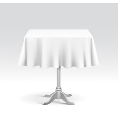 Empty square table with tablecloth vector