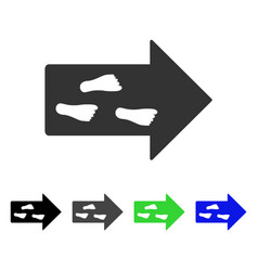 Exit direction flat icon vector