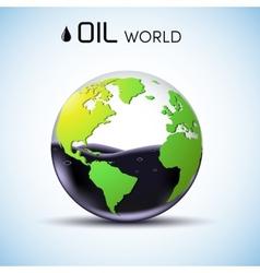 Glasses world oil stock background concept vector