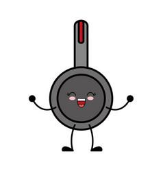 Kawaii pan icon vector