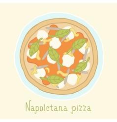 Napoletana pizza vector image vector image