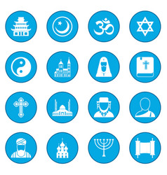 religion icon blue vector image