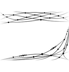 Set of vignette vector