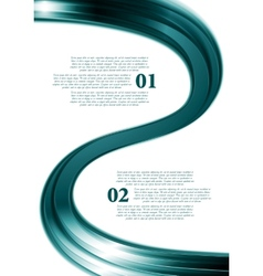 Smooth wave abstract flyer design vector image vector image