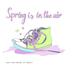 spring is in the air vector image