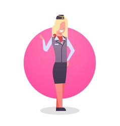 stewardess man icon airport crew worker vector image