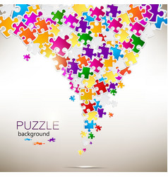 Abstract background made from puzzle pieces vector image