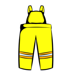 Firefighter pants icon icon cartoon vector