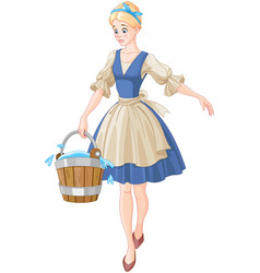 Cinderella holds a bucket vector