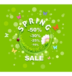 Spring sale discount background vector