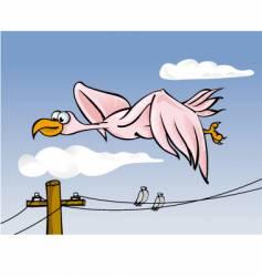 big bird flying vector image