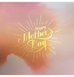 Handwritten happy mothers day retro label vector