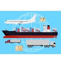 Shipping vehicles composition vector