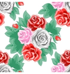 Rose flowers and leaves vector