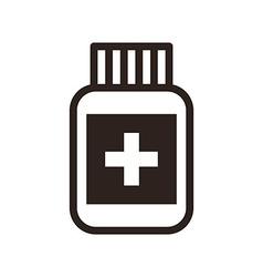 Pill symbol vector