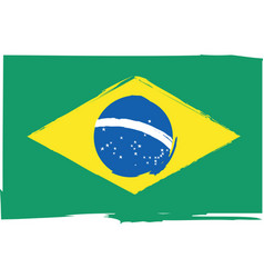 abstract brazilian flag or banner vector image vector image