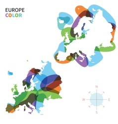Abstract color map of europe vector