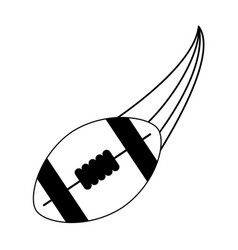 American football ball sport or fitness related vector