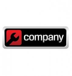 auto repair shop company logo vector image vector image