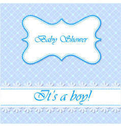 Baby-shower-with-cell-pattern-boy vector