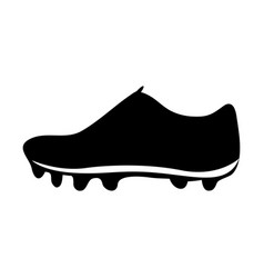 Black silhouette sneakers sport shoes vector