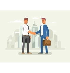 Business partners flat design vector image vector image