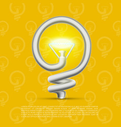 creative lamp made of helix vector image vector image