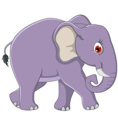 cute elephant cartoon walking vector image