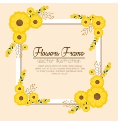 cute flowers frame background vector image vector image