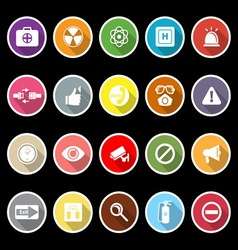 General health care icons with long shadow vector image