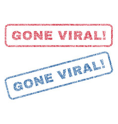 Gone viral exclamation textile stamps vector
