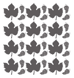 Grape leaves seamless pattern design vector
