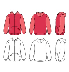 Hoodie sweater template vector