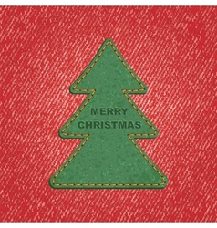 Jeans background leather christmas tree vector