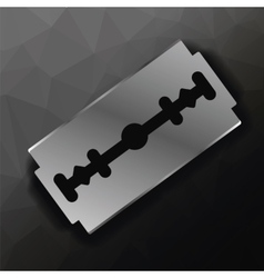 Metal Razor Blade vector image