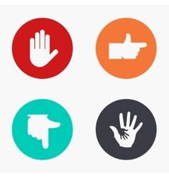 Modern hand colorful icons set vector