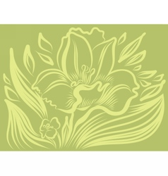 Narcissus spring flower tattoo drawing vector