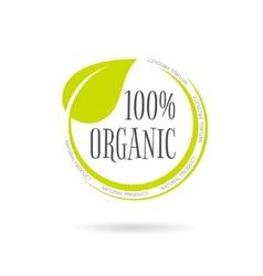 Organic product emblem on white background vector image