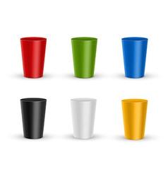 Plastic glass vector