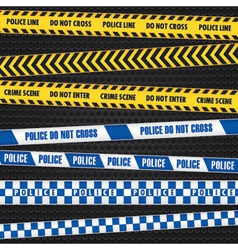 Police warning tapes vector